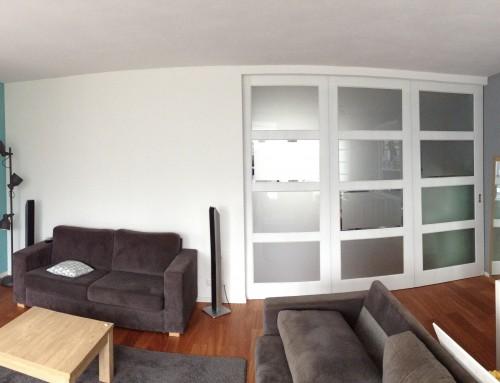 Plaatsen schuifwand voor kamers en suite creatie